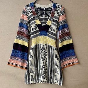 NWT Free people patchwork sweater dress.